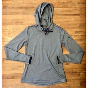 Nike pro cowl neck pullover running hoodie NWOT